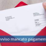 Avviso mancato pagamento e registrazione SIC cattivo pagatore